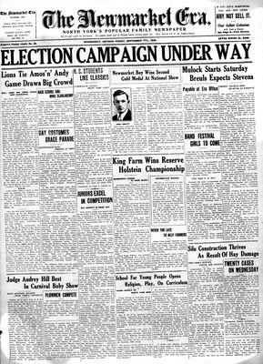 Newmarket Era (Newmarket, ON1861), September 7, 1934