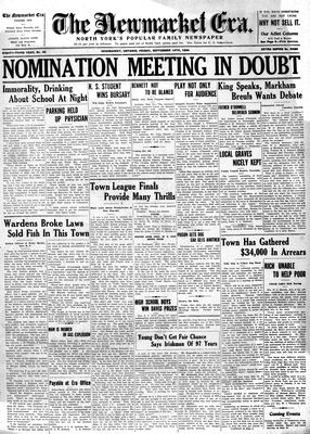 Newmarket Era (Newmarket, ON1861), September 14, 1934