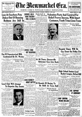 Newmarket Era (Newmarket, ON1861), February 14, 1935