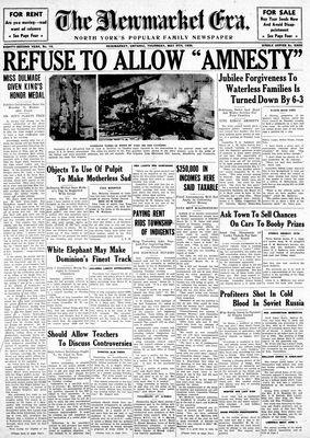 Newmarket Era (Newmarket, ON1861), May 9, 1935