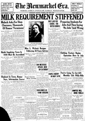 Newmarket Era (Newmarket, ON1861), May 30, 1935