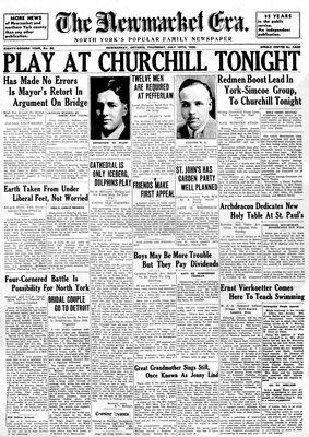 Newmarket Era (Newmarket, ON1861), July 18, 1935