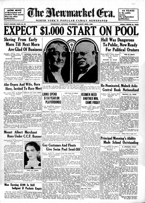 Newmarket Era (Newmarket, ON1861), August 22, 1935