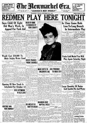 Newmarket Era (Newmarket, ON1861), September 5, 1935