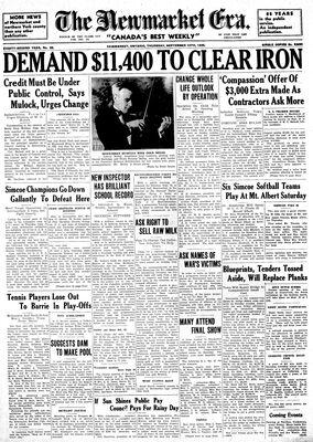 Newmarket Era (Newmarket, ON1861), September 12, 1935