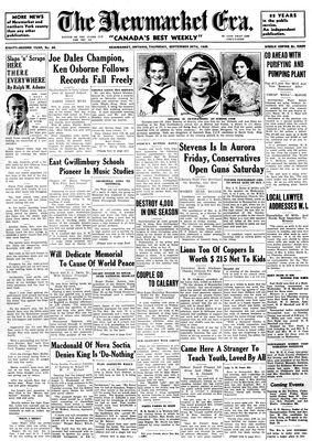 Newmarket Era (Newmarket, ON1861), September 26, 1935