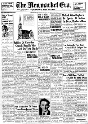 Newmarket Era (Newmarket, ON1861), October 10, 1935