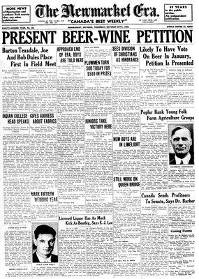 Newmarket Era (Newmarket, ON1861), October 24, 1935