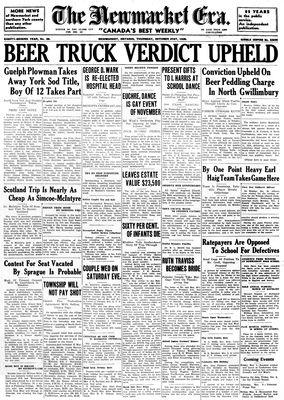 Newmarket Era (Newmarket, ON1861), October 31, 1935