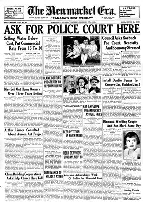 Newmarket Era (Newmarket, ON1861), November 7, 1935