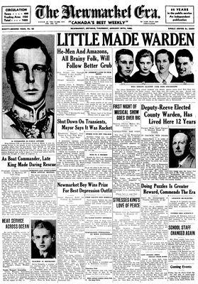 Newmarket Era (Newmarket, ON1861), January 30, 1936