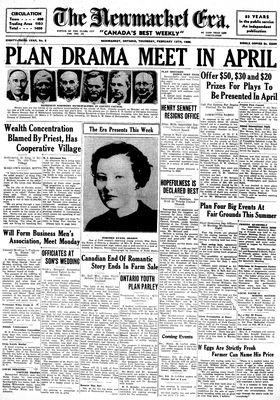 Newmarket Era (Newmarket, ON1861), February 13, 1936