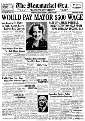 Newmarket Era (Newmarket, ON1861), March 19, 1936