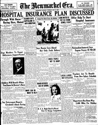 Newmarket Era (Newmarket, ON1861), July 9, 1936