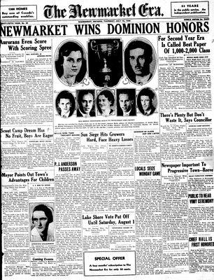 Newmarket Era (Newmarket, ON1861), July 16, 1936