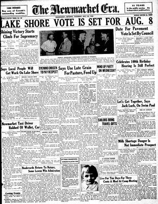 Newmarket Era (Newmarket, ON1861), July 23, 1936