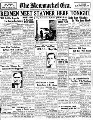 Newmarket Era (Newmarket, ON1861), August 13, 1936