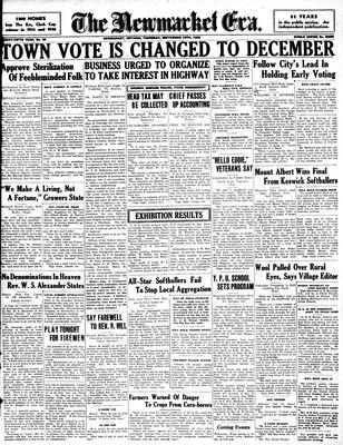 Newmarket Era (Newmarket, ON1861), September 10, 1936