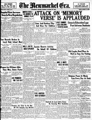 Newmarket Era (Newmarket, ON1861), October 1, 1936