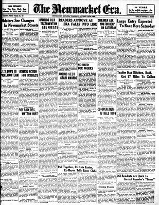 Newmarket Era (Newmarket, ON1861), October 15, 1936