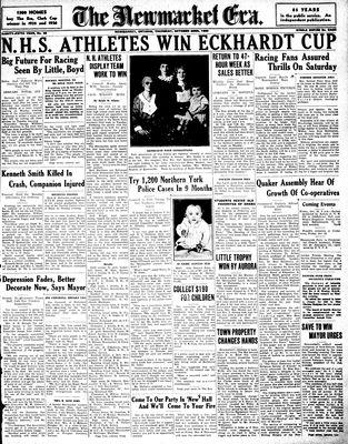 Newmarket Era (Newmarket, ON1861), October 22, 1936