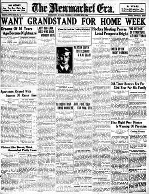 Newmarket Era (Newmarket, ON1861), October 29, 1936