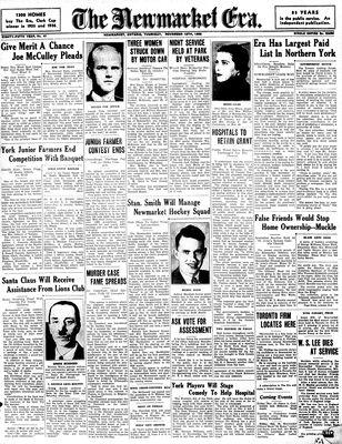 Newmarket Era (Newmarket, ON1861), November 12, 1936