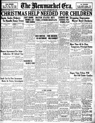 Newmarket Era (Newmarket, ON1861), November 19, 1936