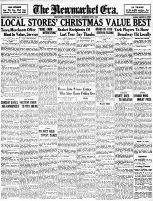 Newmarket Era (Newmarket, ON1861), November 26, 1936