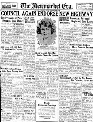 Newmarket Era (Newmarket, ON1861), December 22, 1936