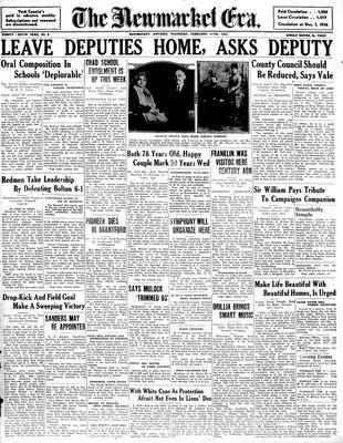 Newmarket Era (Newmarket, ON1861), February 11, 1937