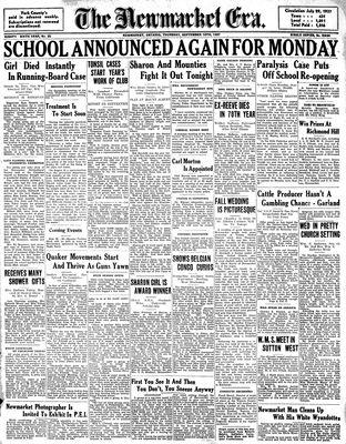 Newmarket Era (Newmarket, ON1861), September 16, 1937