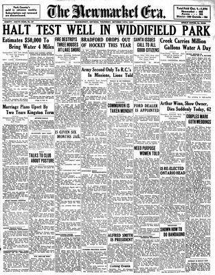 Newmarket Era (Newmarket, ON1861), October 14, 1937