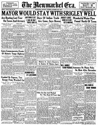 Newmarket Era (Newmarket, ON1861), October 21, 1937