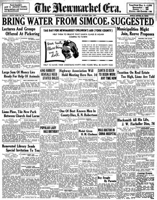 Newmarket Era (Newmarket, ON1861), October 28, 1937