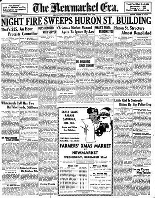 Newmarket Era (Newmarket, ON1861), December 9, 1937