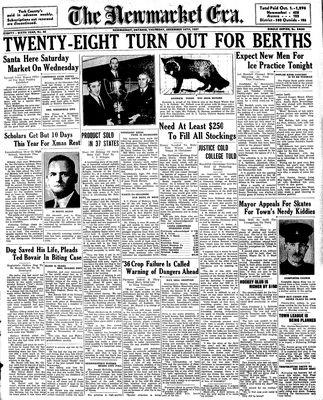 Newmarket Era (Newmarket, ON1861), December 16, 1937