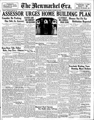 Newmarket Era (Newmarket, ON1861), October 6, 1938