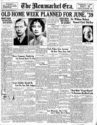 Newmarket Era (Newmarket, ON1861), October 13, 1938