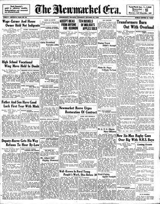 Newmarket Era (Newmarket, ON1861), October 20, 1938