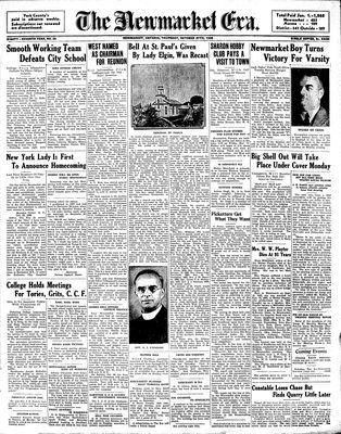Newmarket Era (Newmarket, ON1861), October 27, 1938