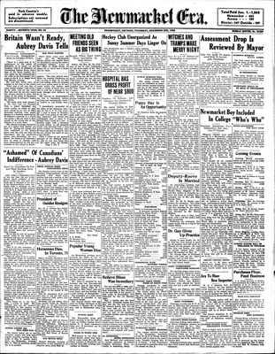 Newmarket Era (Newmarket, ON1861), November 3, 1938