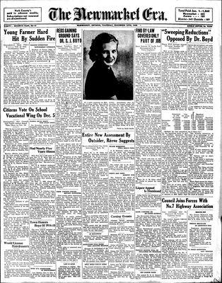 Newmarket Era (Newmarket, ON1861), November 10, 1938