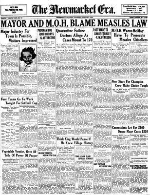 Newmarket Era (Newmarket, ON1861), June 1, 1939