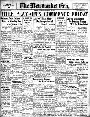 Newmarket Era (Newmarket, ON1861), August 15, 1940