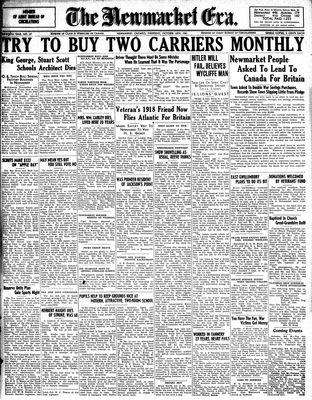 Newmarket Era (Newmarket, ON1861), October 16, 1941