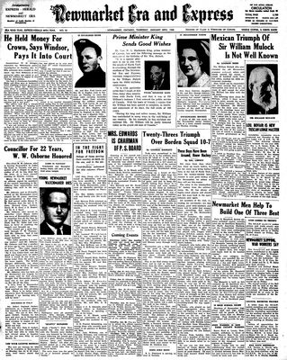 Newmarket Era and Express (Newmarket, ON), January 20, 1944