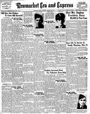 Newmarket Era and Express (Newmarket, ON), January 27, 1944