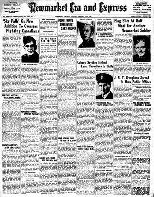 Newmarket Era and Express (Newmarket, ON), February 17, 1944