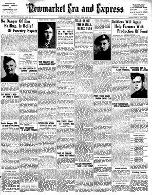 Newmarket Era and Express (Newmarket, ON), June 22, 1944